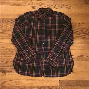 J Crew plaid long sleeve button down shirt sz:10